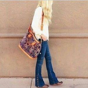 FREE PEOPLE | Skylar Slim Flare Button Leg Jeans